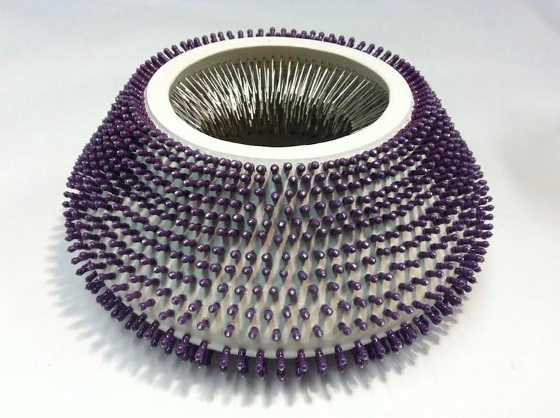 """U    ntitled  5"""" x 8"""" x 8"""", resistors, clay, 2014"""