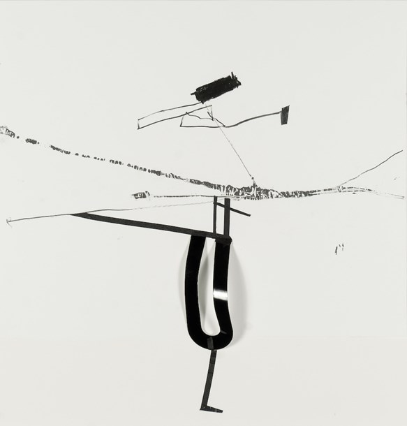 "Certain Utterances, Uncertain Persons 04  14"" x 17"", graphite, tape and mixed media on paper, 2014"