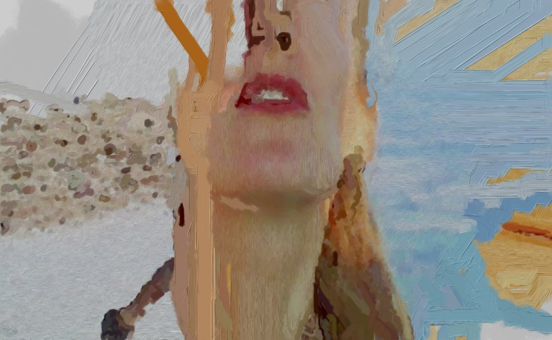 Detail, frame capture of generative video painting, 2014
