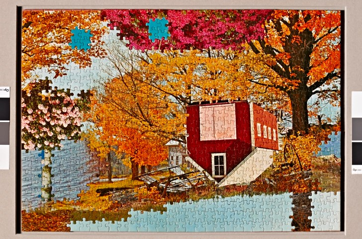 """Picture Plane Endup  22"""" x 28"""", puzzle mounted to board, 2014"""