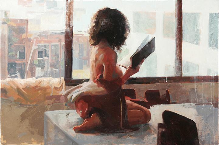 "Break  24"" x 36"", oil on canvas, 2014"