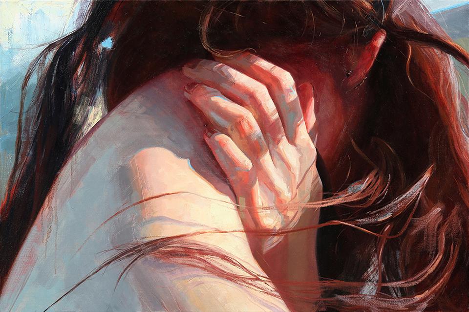 "Self Portrait    24"" x 36"", oil on canvas, 2014"