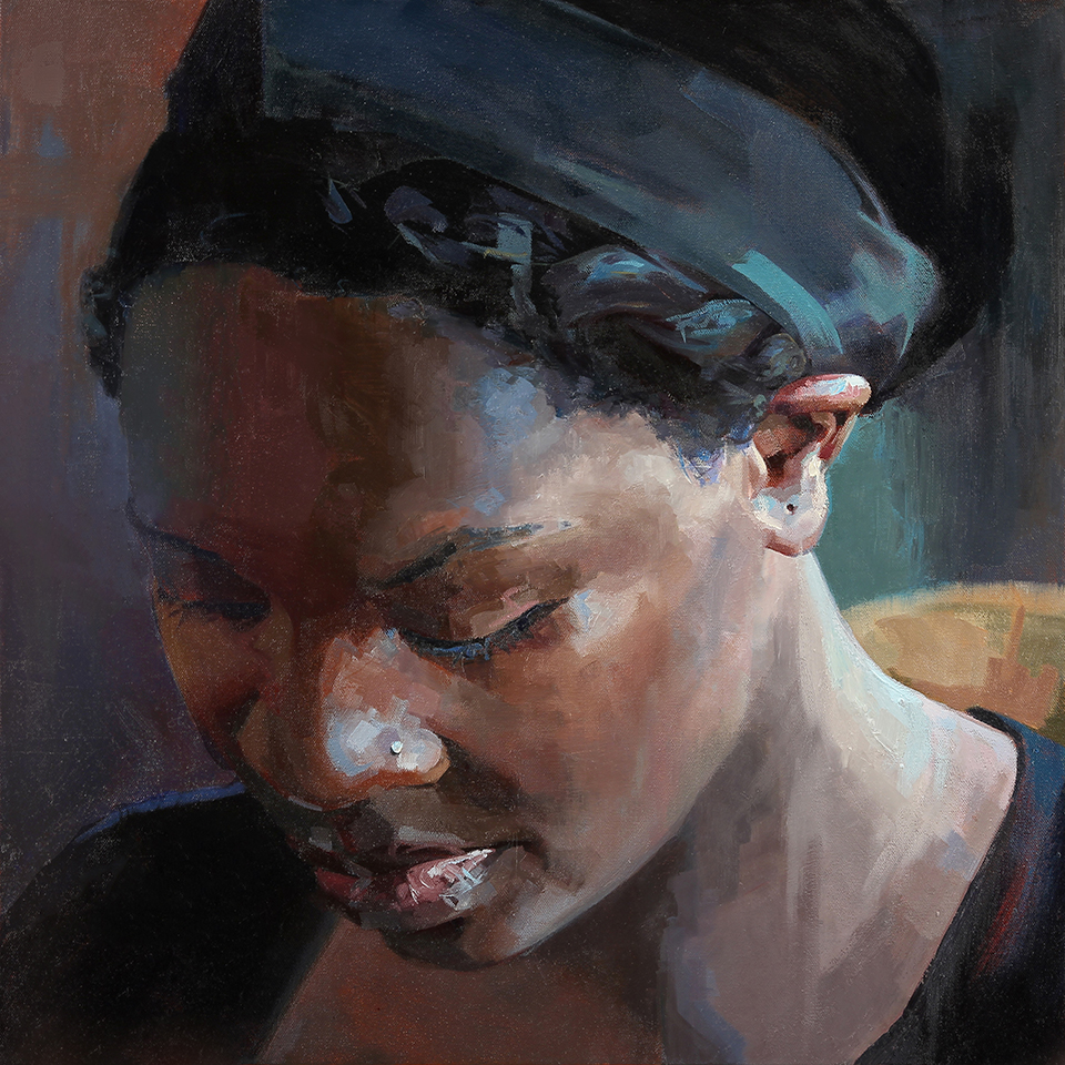 "Wait    24"" x 24"", oil on canvas, 2014"