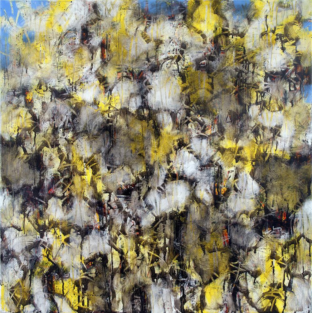 "Zapatero, Two.  30"" x 30"", oil on canvas, 201 3"