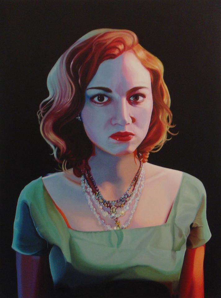 """Elvy    48"""" x 36"""", oil on canvas , 2014"""