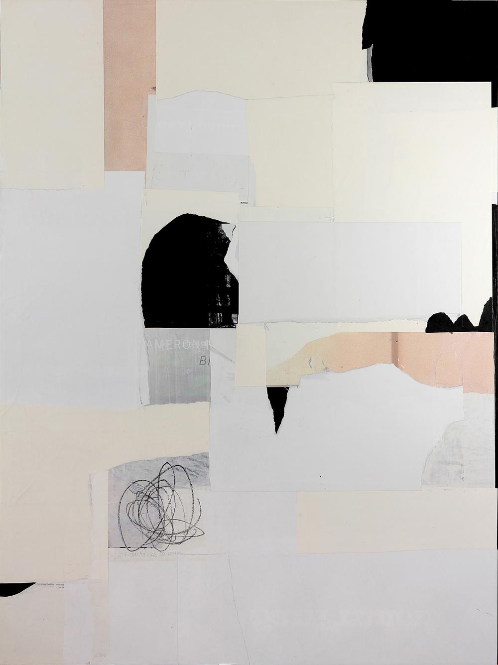 """Wabi-Sabi13  60"""" x 45"""", mixed media on canvas, 2015"""