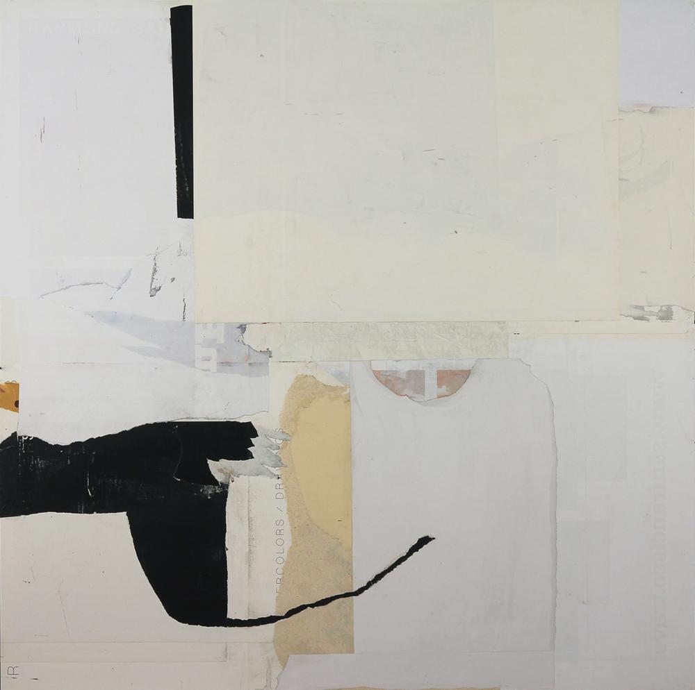 """Wabi-Sabi1  48"""" x 48"""", mixed media on canvas, 2015"""