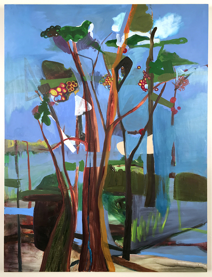 """Forest  40"""" x 30"""", oil on wood panel, 2015"""