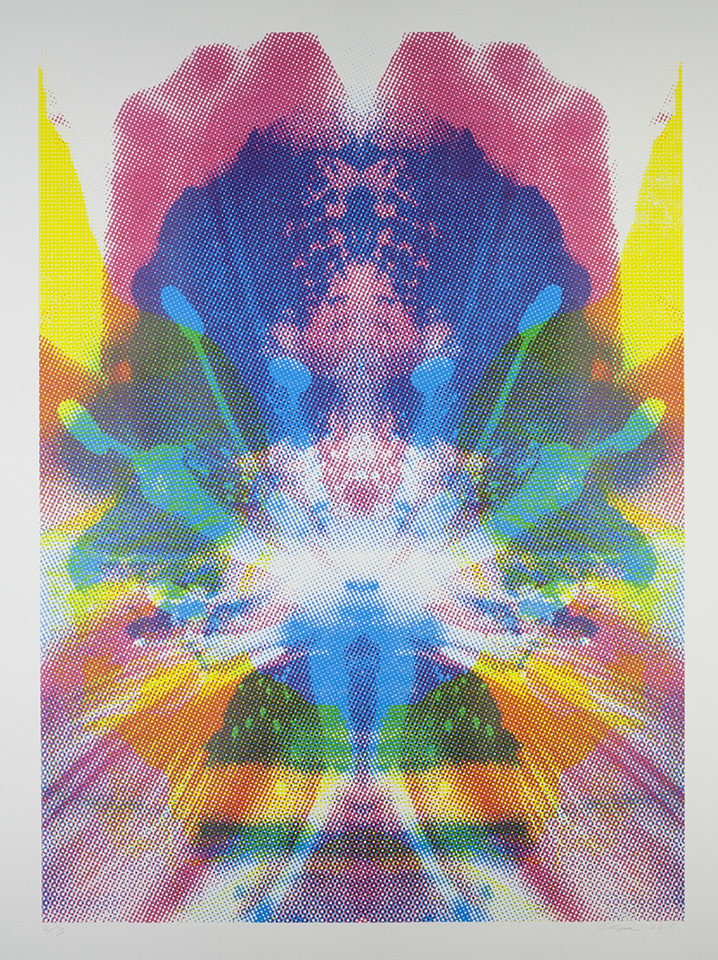 """Emanation: Every Atom Bound Together  47""""x 36"""", serigraph (edition of 3),2015"""
