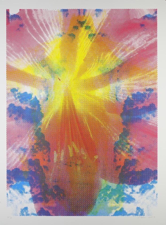 "Emanation: Trinitatis  47""x 36"", serigraph (edition of 3), 2015"