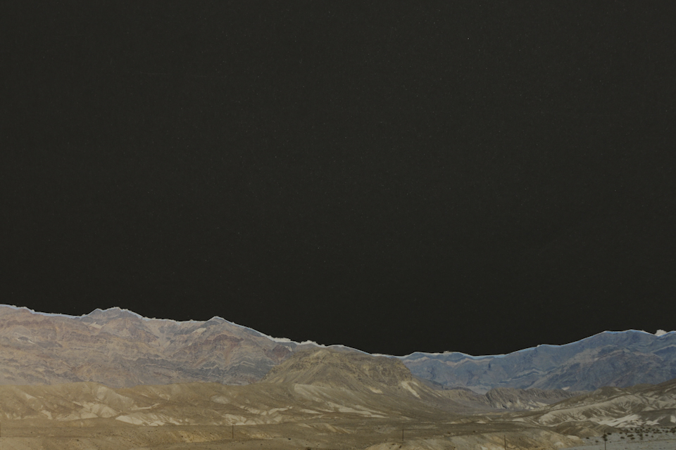 """Studio Horizon (Black Sky/Night Sky)  5"""" x 7"""", archival inkjet print, 2014"""