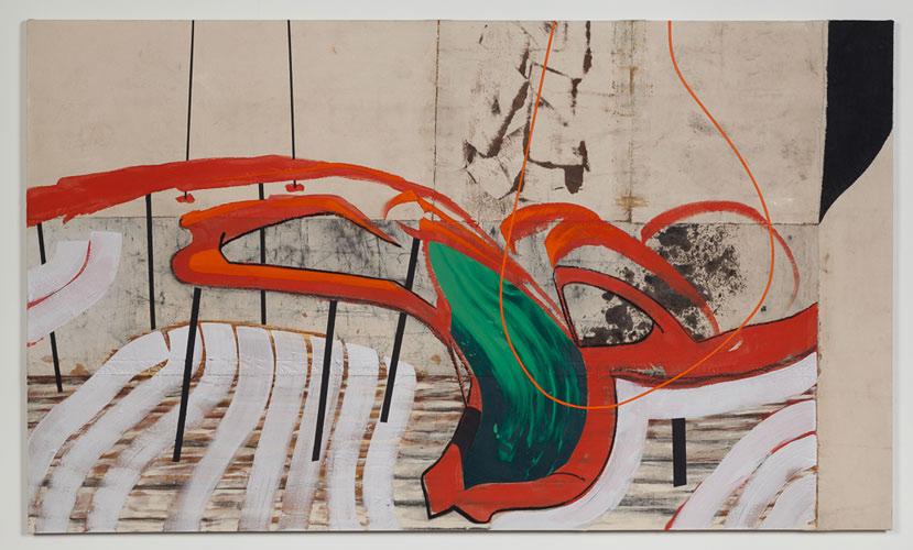 "Modern-Red  52"" x 88"", acrylic on canvas, 2014"