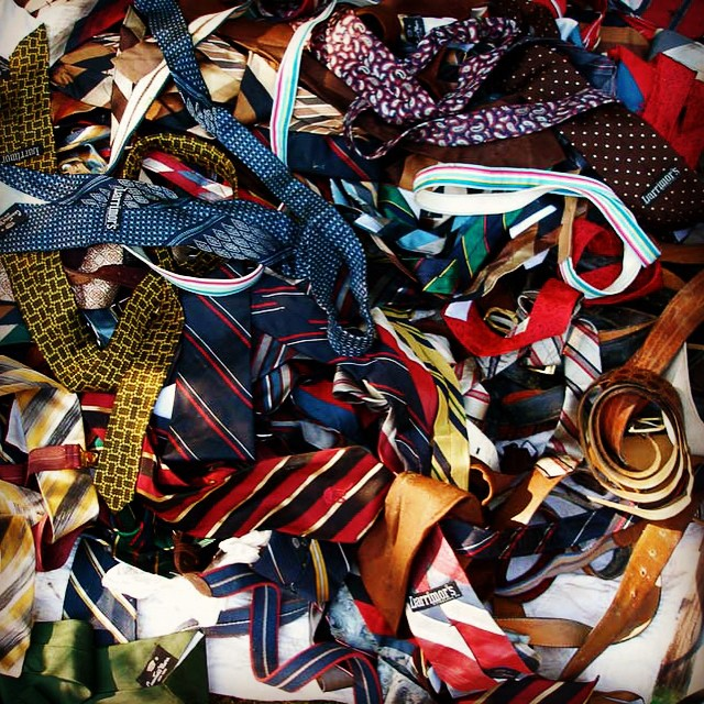 #icepocalypse2015 Good time to go through your ties to see if you have any to donate to Endada Art Project. Thx! #endada2015 #montgomerybell