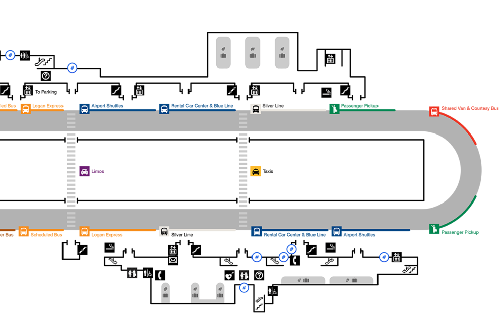 Logan International Airport terminal maps — Mark Grambau