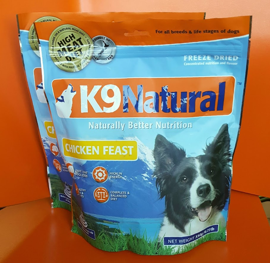 20% OFF cHICKEN FLAVOURED K9 NATURAL FREEZE DRIED DOG FOOD   K9 Natural freeze dried dog food and treats use only the highest quality ingredients, giving your dog the locked in natural goodness of fresh pure ingredients with the combined benefit of an intense flavour boost.