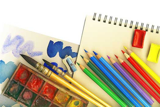 Our arts education program donates art supplies to classrooms in need