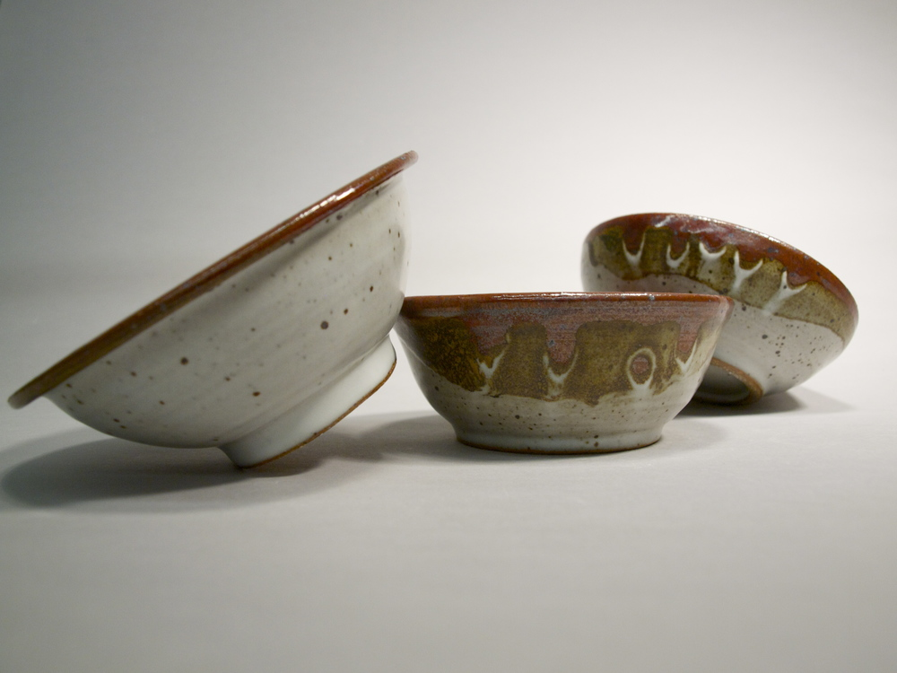 Two Toned Bowls // Reduction Fired Stoneware