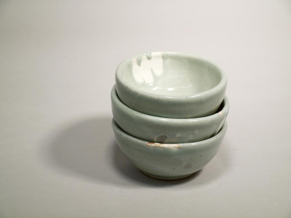 Blue Celadon Bowls // Reduction Fired Stoneware
