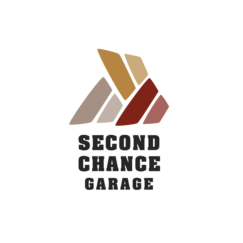 Second Chance Garage is a theoretical company that restores classic cars. This is one option for their brand.