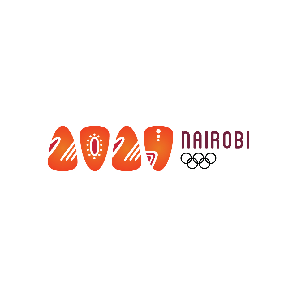 Nairobi, Kenya is a campaign city for the 2024 summer olympics. My design for their logo combines traditional African influences with modern type to get at the essence of the city. The warm colors support one of the city's nicknames,  The City Under The Sun.