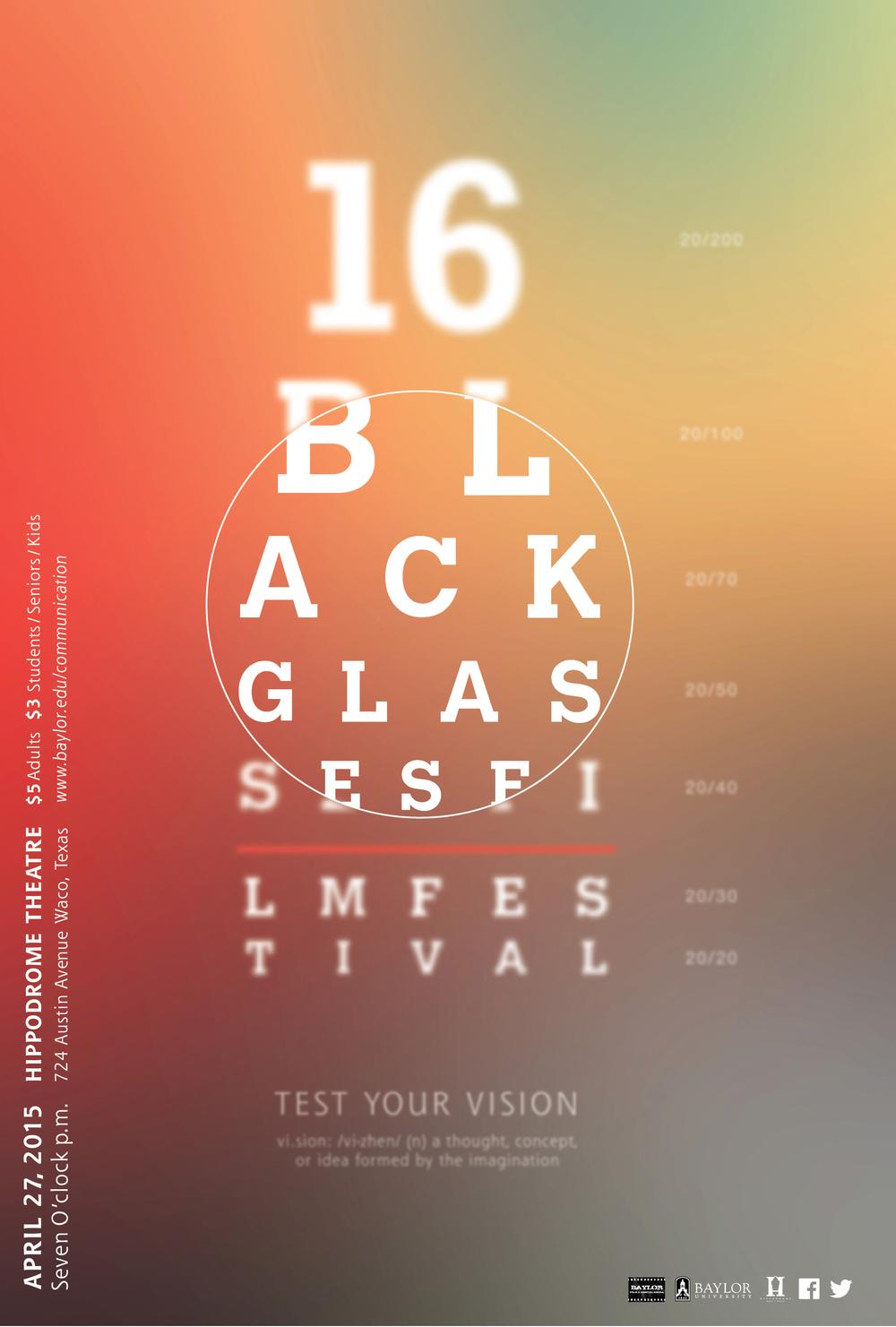 Black Glasses Poster