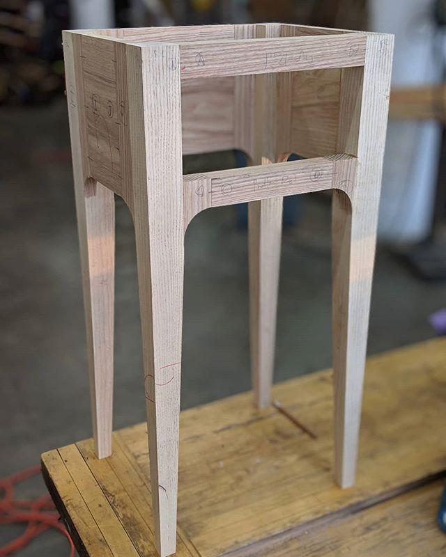Bedside table taking shape. . . . . #woodworking #woodshop #ash #furnituredesign #furniture #handmade