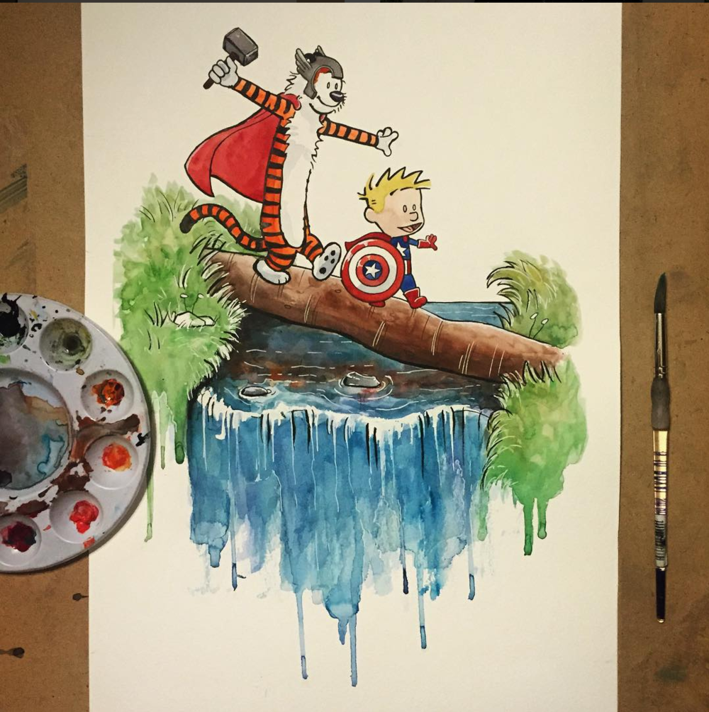 Calvin and Hobbes Illustration Kathleen Darby