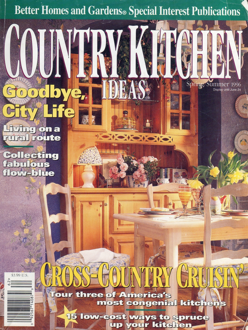 Kitchen Design by Beth Rengel front cover of Better Homes and Gardens Country Kitchen Magazine. 1996
