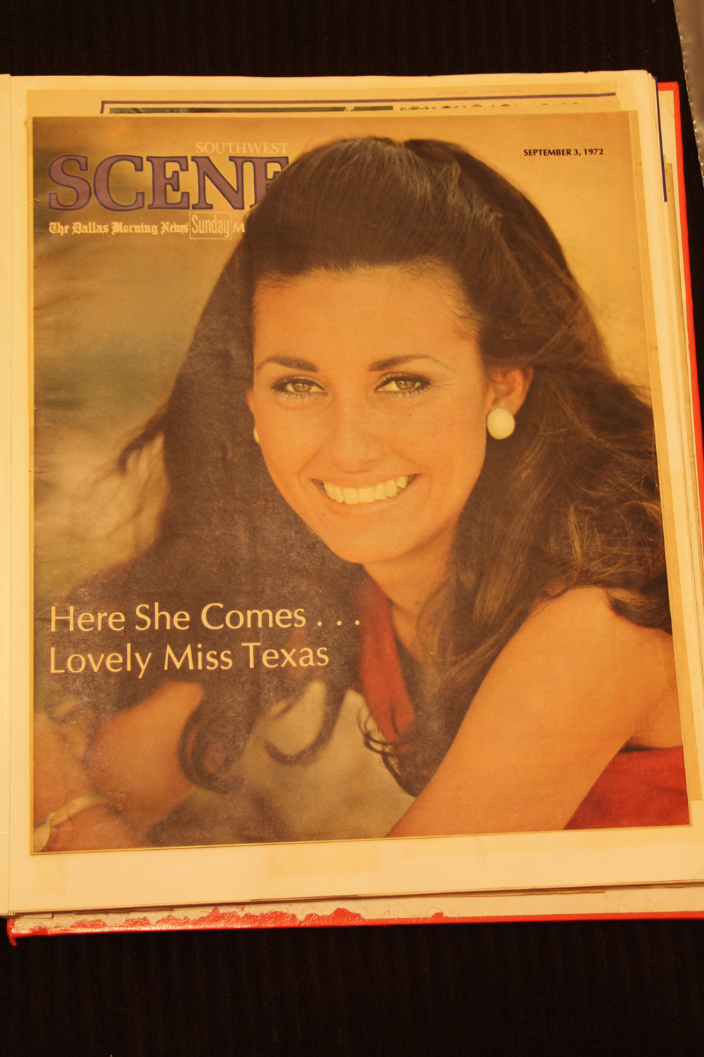 Cover of Magazine section for Dallas Morning Newspaper 1972