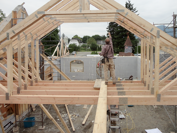 House project imagination corporation for Bonus room truss design