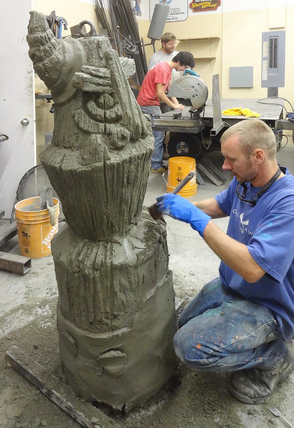 Carving a Tiki