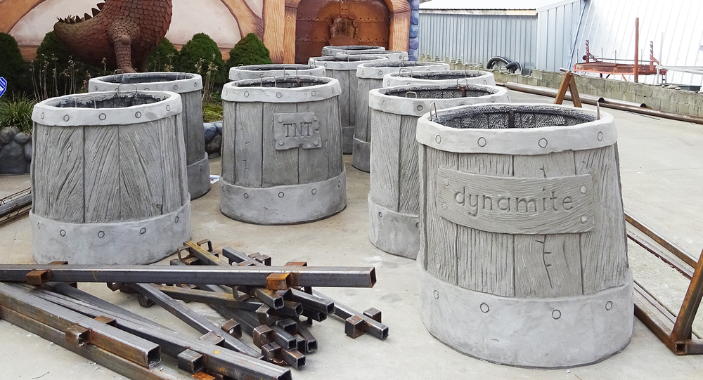 These are slightly less than half of the required barrels we will need for the task.
