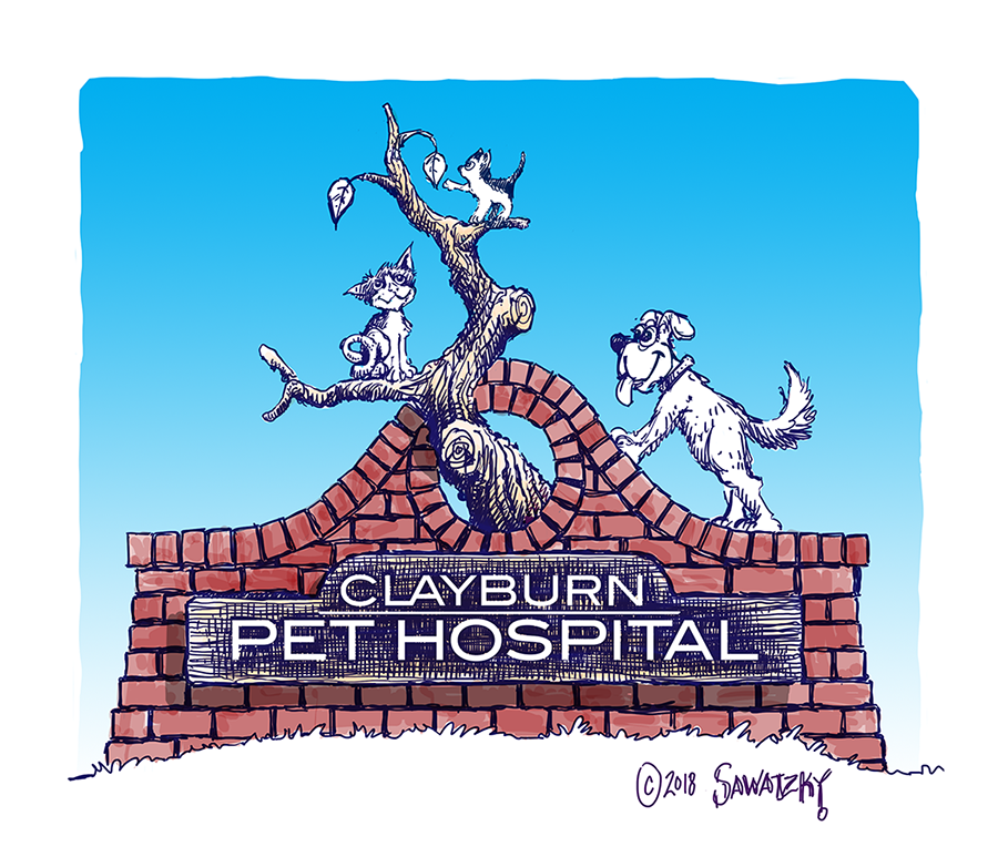 clayburn pet hospital concept