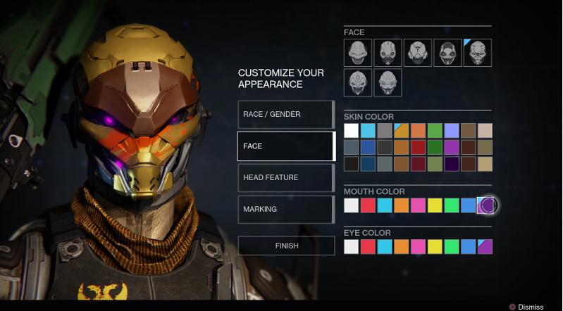 とあるゲームのキャラクターメイク画面:ゲームによっては、プレイヤーはゲームを始める際に自分がプレイする主人公の外見を自分好みにカスタマイズすることができる。