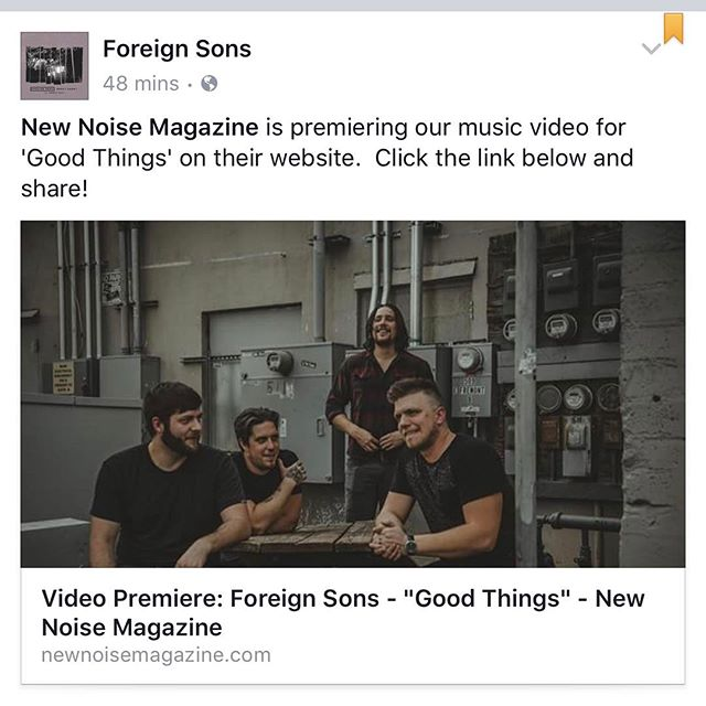 "Check out the #exclusive release from @newnoisemagazine of our #newmusic #video ""Good Things""! Link is in @foreignsons bio"