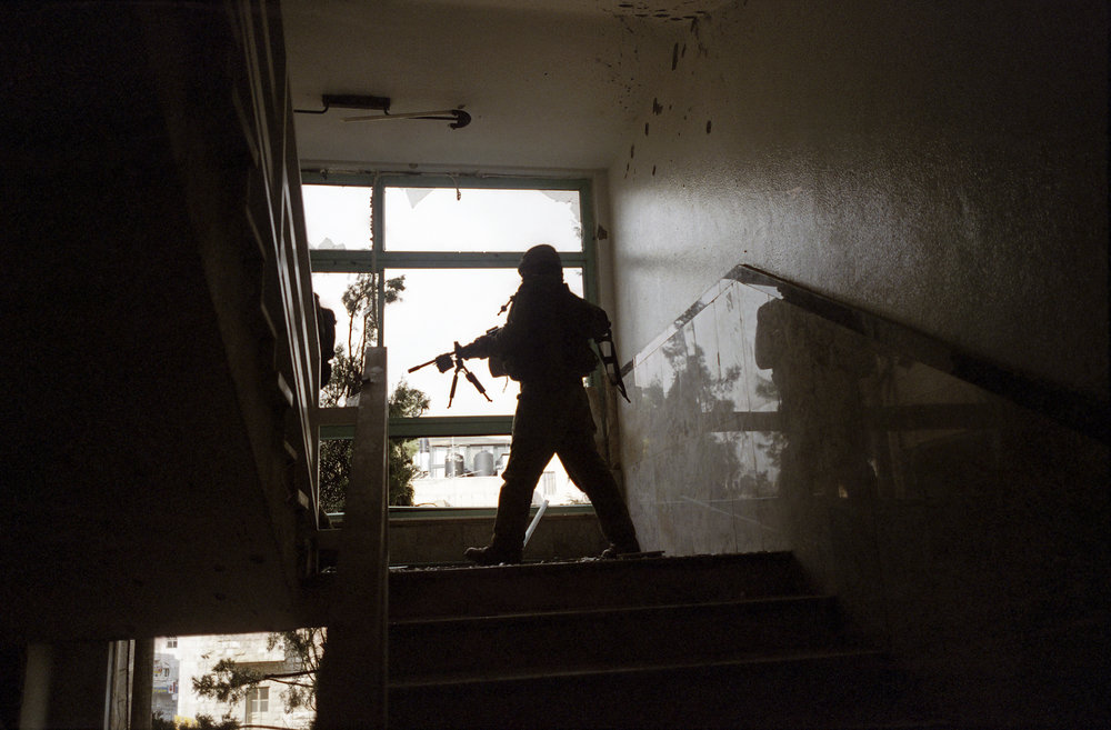 "Operation ""Defensive Shield"", IDF forces incursion, Ramallah, 2002."