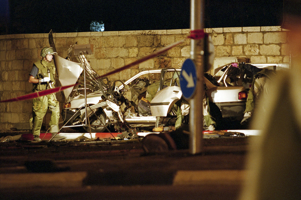 Car Bomb Attack, Jerusalem, 2002.