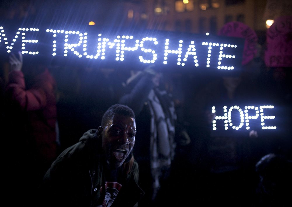 10.11.16: New Yorkers protesting the election of Donald J Trump, Union Square.