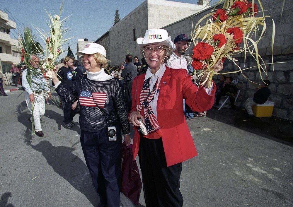 American Tourists, Palm Sunday, Jerusalem, 2002