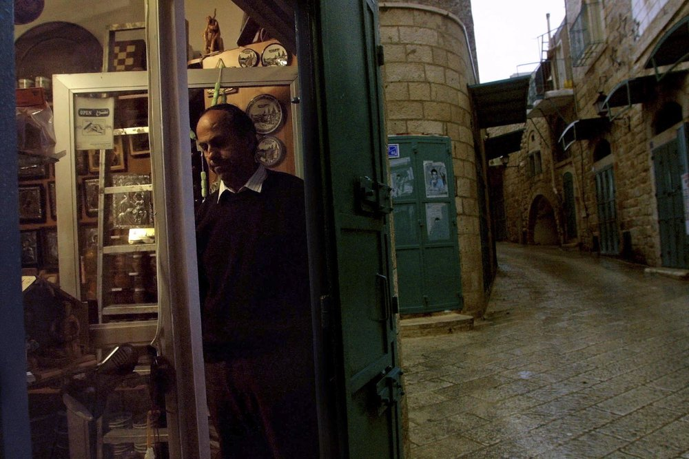 Bethlehem, Souvenir Shop Closing For Curfew, 2002