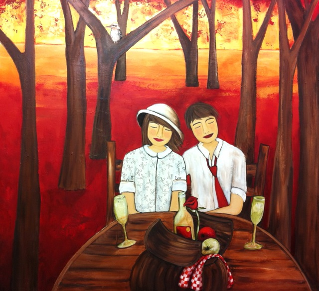 A Picnic in the Park 100cm x 110cm.jpg
