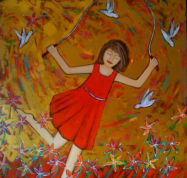 Birds and Bees 120cm x 120cm .jpg