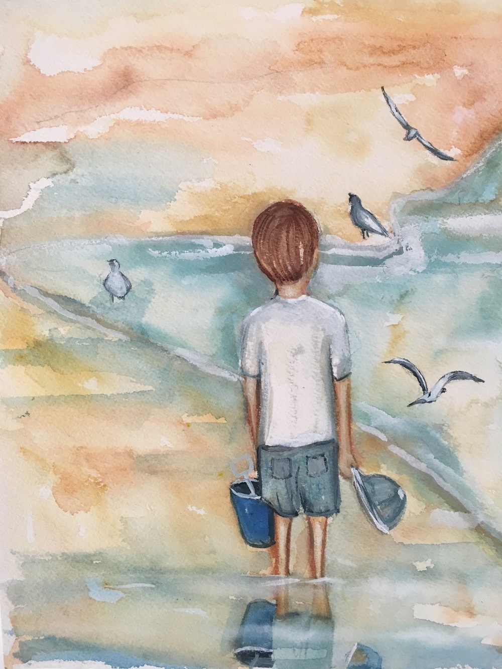 Beach time A4 Watercolour.jpg