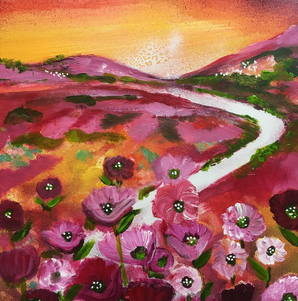 Poppy fields 30cm x 30cm.jpg