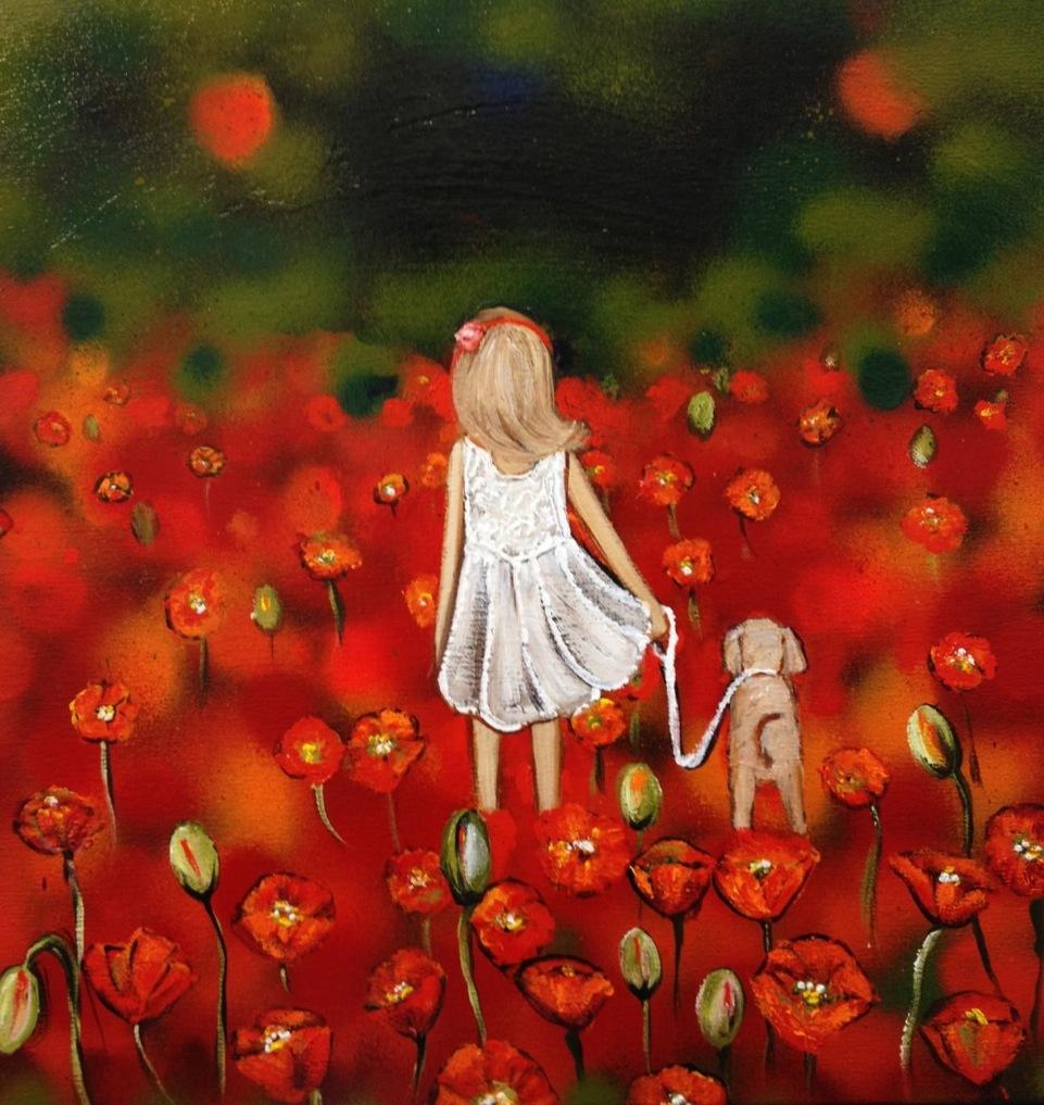 Walking Miss Poppie 41cm x 41cm 2.jpeg