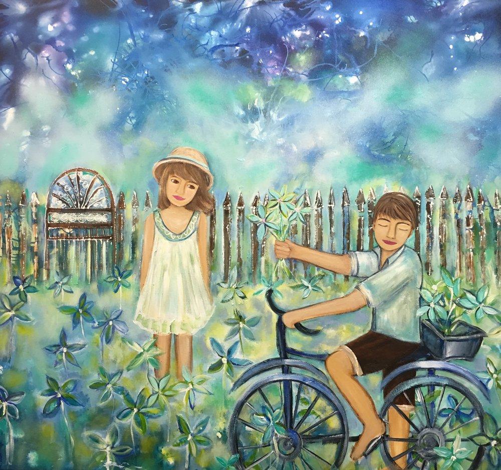 Love is in the Air 110cm x 121cm.jpg