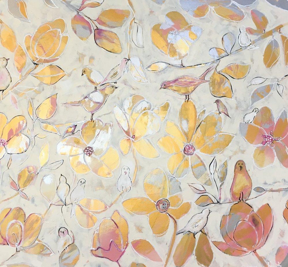 The Magnolia Tree 110cm x 120cm.JPG