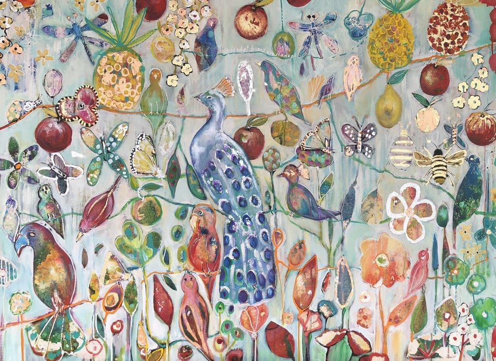 Mr Peacocks Garden 100cm x 136cm.jpg