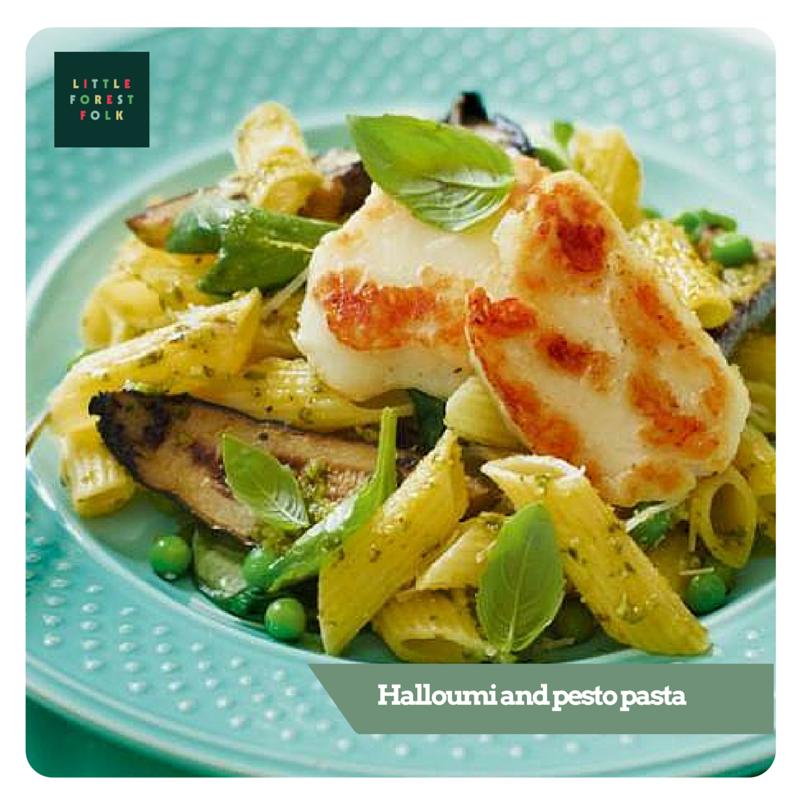Spring menu sneak preview -  Halloumi and pesto pasta