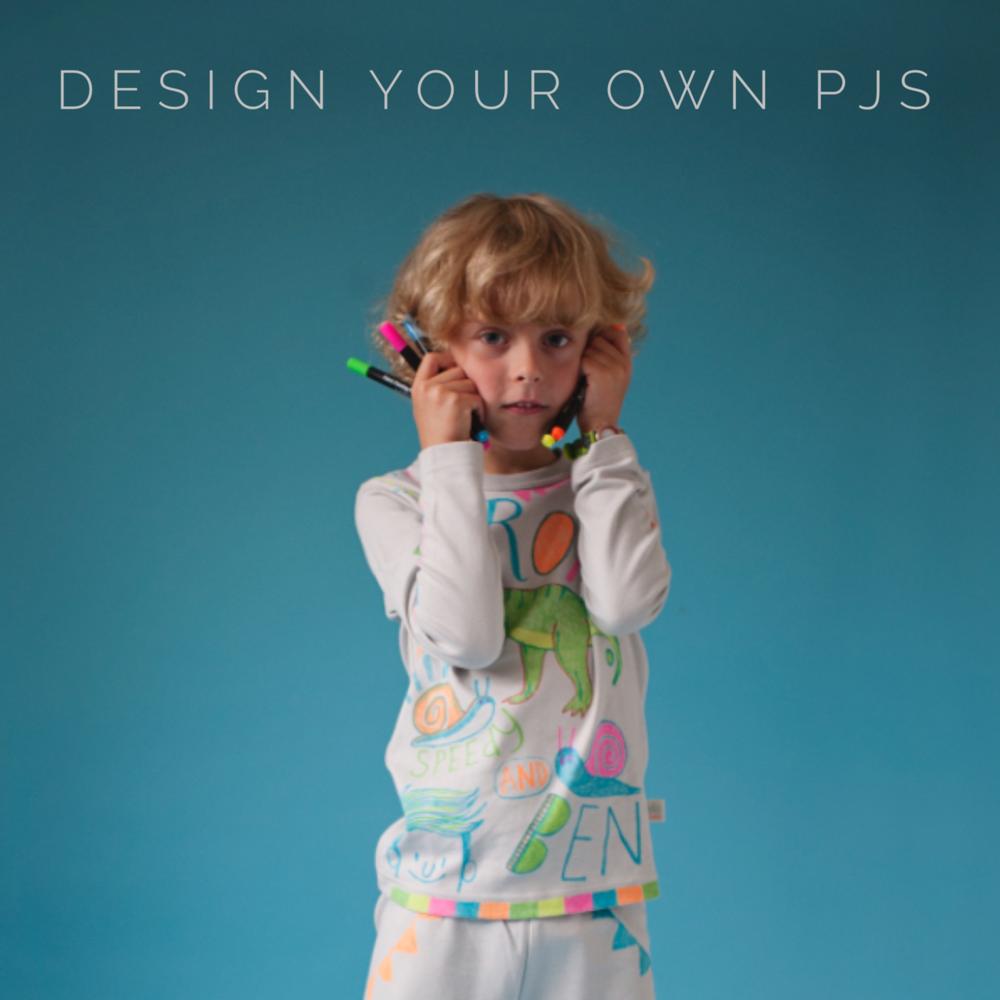 organic cotton design your own kids pyjamas
